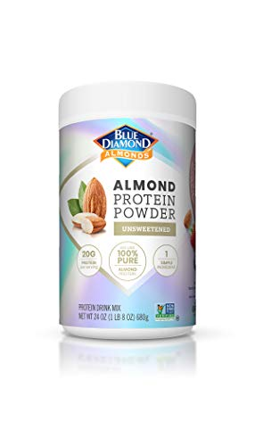 Blue Diamond Almonds Almond Protein Powder, Unsweetened - 20g Protein, Plant Based, Vegan, Gluten Free, Non Dairy, Non-GMO, 100% Pure Almond Protein, 24 Ounce