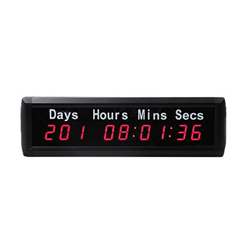 WyaengHai Countdown-Uhr Großes Fitness-Studio Indoor-Training Timer Minuten Und Sekunden Zählen Intervall-Timer-Wanduhr Mit Fernbedienung Geeignet für Fitness-Studio Fitness