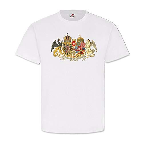 Österreich Ungarn Wappen K u K Monarchie Emblem Adler Engel - T Shirt #1570, Größe:M, Farbe:Weiß