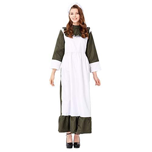 Cosplay kostuum Fancy Halloween meid jurk schort voor vrouwen Halloween boerderij meid prinses Fancy jurk Cosplay kostuum
