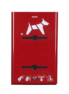 Rossignol - Distributeur mural canin rouleaux ROSSIGNOL Couleur - Rouge rubis