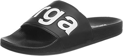 Superga Unisex-Erwachsene Slides PVC Slipper, Weiß (Black-White), 37 EU
