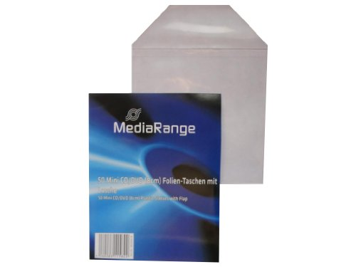 1002x 50 MediaRange Sleeve Mini CD DVD fundas