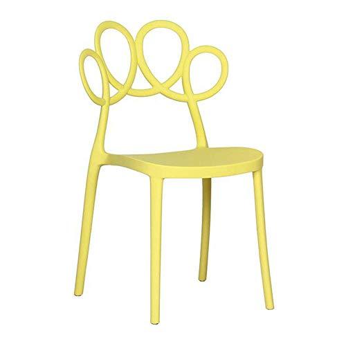 QTQZDD Plastic stoelen lichtgewicht duurzaam, waterdicht, stapelbaar terras, eetkamer, banket, tuinstoel kruk (kleur: llow) 2 2