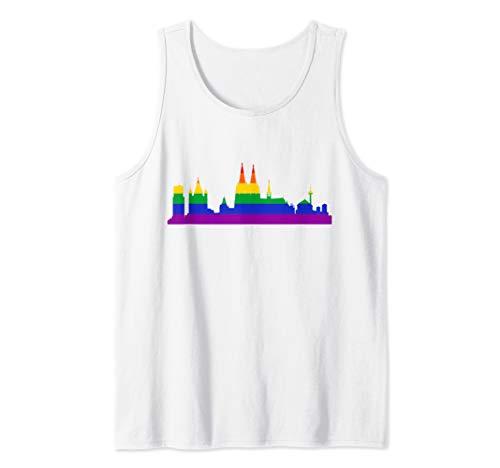 Köln Silhouette Regenbogenfahne - Schwul Lesbisch Pride Tank Top