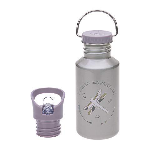 LÄSSIG Kinder Edelstahlflasche Trinkflasche Auslaufsicher spülmaschinengeeignet/Bottle Stainless Steel Adventure Dragonfly