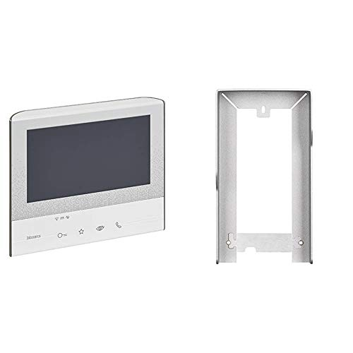 BTicino 344642 Videocitofono Classe 300 X13E con WiFi, Bianco & Tetto Antipioggia, Accessorio per Pulsantiere, Linea 3000, Bronzo