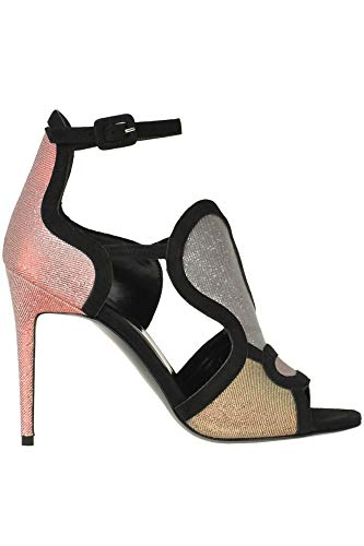 PIERRE HARDY Glittered Fabric and Suede Sandals Woman Multicoloured 40 IT