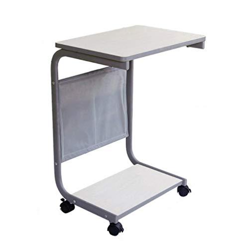 Side table-Q QFF-Computertisch Beweglicher Tisch, mit Roller Land Typ Nachttisch Wohnzimmer Schlafzimmer Sofa Beistelltisch Laptop Tisch Einfacher Schreibtisch Bürotisch Schreibtisch