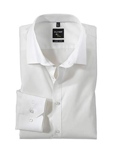 Herren Hemd No. 6 Super Slim Fit Langarm, Farbe Creme, Size M (40)