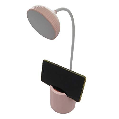 Luminaria de Mesa Abajur Touch Screen Recarregavel LED Suporte Celular Flexivel Articulada Iluminaçao Lampada