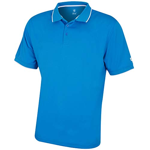 Island Green IGTS1899 Mens CoolPass Breathable Wicking Performance Golf Polo Shirt Sports Top, Hombre, Cielo...