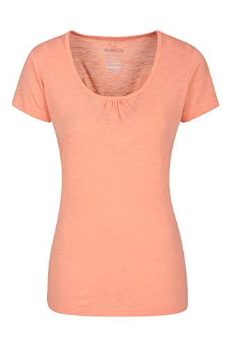 Mountain Warehouse T-Shirt Agra léger et Respirant pour Femme - Séchage Rapide, évacuation de la Transpiration - pour Sports d'extérieur et randonnée Corail 40