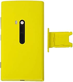 Practical Convenient Spare Parts Compatible with Nokia Lumia 920 Back Cover + SIM Card Tray Replacement Parts (Color : Yellow)