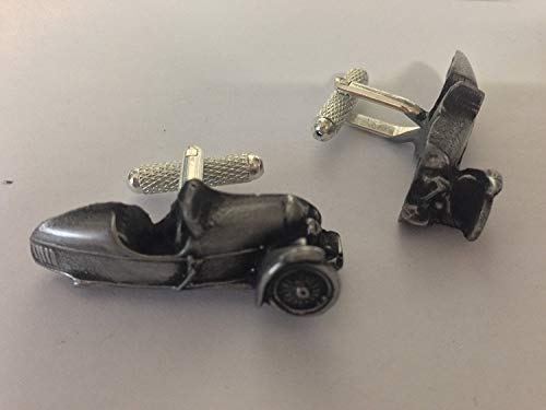 Morgan Super Sport ca. 3 wheeler (1928) 3D-Manschettenknöpfe Zinn-Manschettenknöpfe Oldtimer ref154