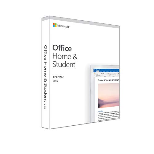 Microsoft Office Home & Student 2019 | il pagamento avviene una sola volta | si installa su un solo dispositivo PC (Windows 10) o Mac  | 1 licenza | scatola