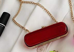 Fashionable and novel Hard shell of Red Mini Lipstick Holder Case With Womens With Metal chain,Lipstick bag for Jewelry Storage Holder Box Cosmetic Case (Hard shell of Red)