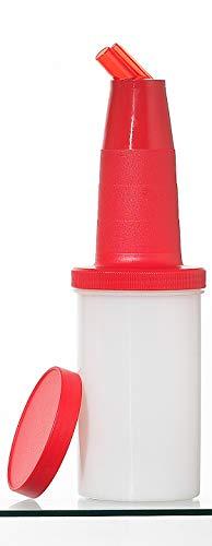 Garnet 6000-R Speed Bottle da 1 lt – Contenitore di succhi e sciroppi – 1 Pezzo – Il Barattolo è Dotato di Tappo di Chiusura-Made in Italy, Plastica, Rosso
