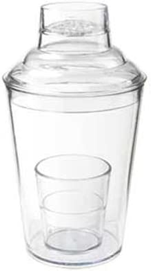 3-Piece Shaker Set w 17.5-oz Clear Plastic Capacity Ranking TOP2 El Paso Mall