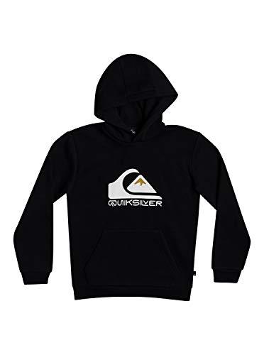 Quiksilver Big Logo-Sweat à Capuche pour Garçon 8-16, Black, FR : M (Taille Fabricant : M/12)
