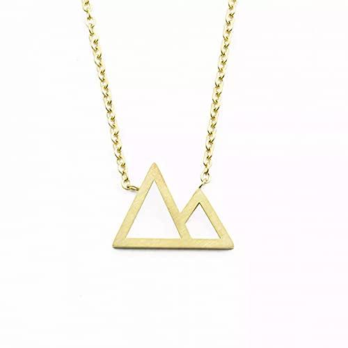 Collar Colgante Collar de montaña con forma de triángulo doble simple para mujer joyería de moda regalos para hermanas Ajustable Collar amistad Aniversario San Valentín Cumpleaños Regalo