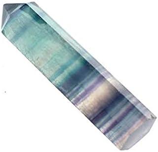 FSM-STONES, 1pc fluorite naturel cristal de quartz de pierre colorée HomeDecorative Pierre Collier strass cadeau Charms ir...