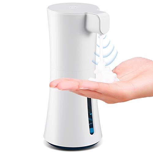 PTHTECHUS Dispensador de Jabón Automático Sensor Dispensador de Jabón Sin Contacto con Sensor Infrarrojo, Jabón Sin Contacto 450ml Base Antideslizante, para el hogar, la Oficina, el Hotel, el Hospita