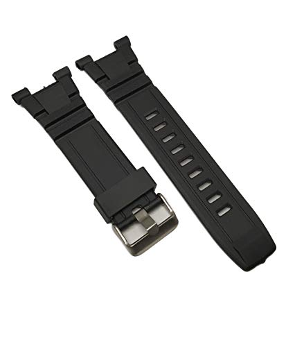 g24 Silicone Black Rubber Replacement Watch Band Strap fits 40/8254 40/8309 & Others