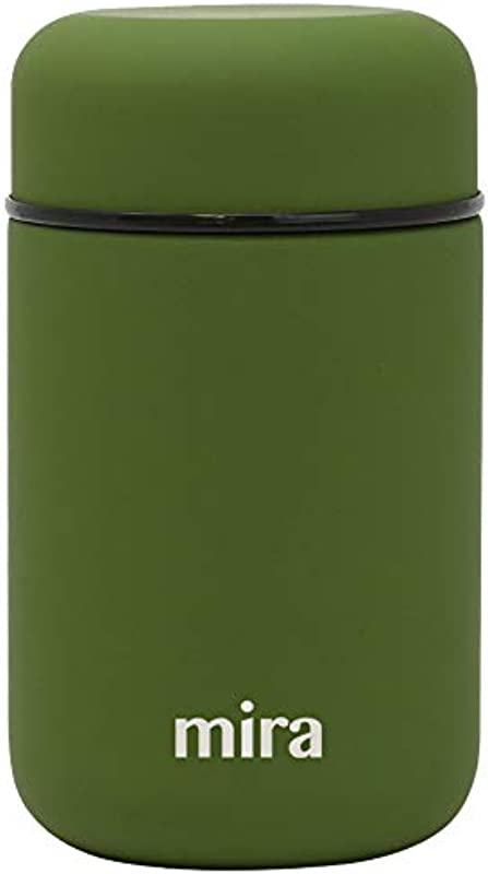 MIRA Lunch Food Jar Vacuum Insulated Stainless Steel Lunch Thermos 13 5 Oz Olive Green