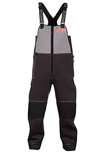 STORMR Men's Performance Andjustable Shoulders Reinforced Knees and Seat Black Strykr Bib, Small