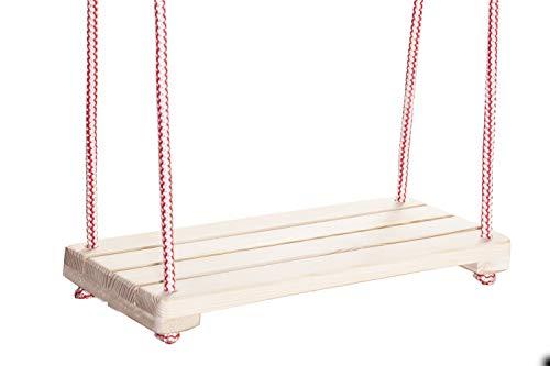 Wooden World Holz Kinder Kinder Schaukel Spielplatz Outdoor Stuhl Seil Garten Patio Türsteher Board natürliche Farbe