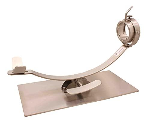 Soporte jamonero New Generation de acero inoxidable, jamonero basculante y giratorio de acero inoxidable