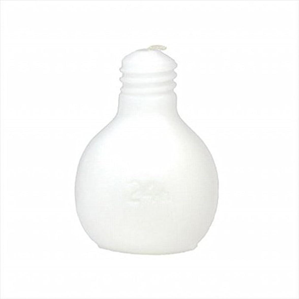 生織るフルーツkameyama candle(カメヤマキャンドル) 節電球キャンドル 「 ホワイト 」 キャンドル 75x75x98mm (A4220000W)