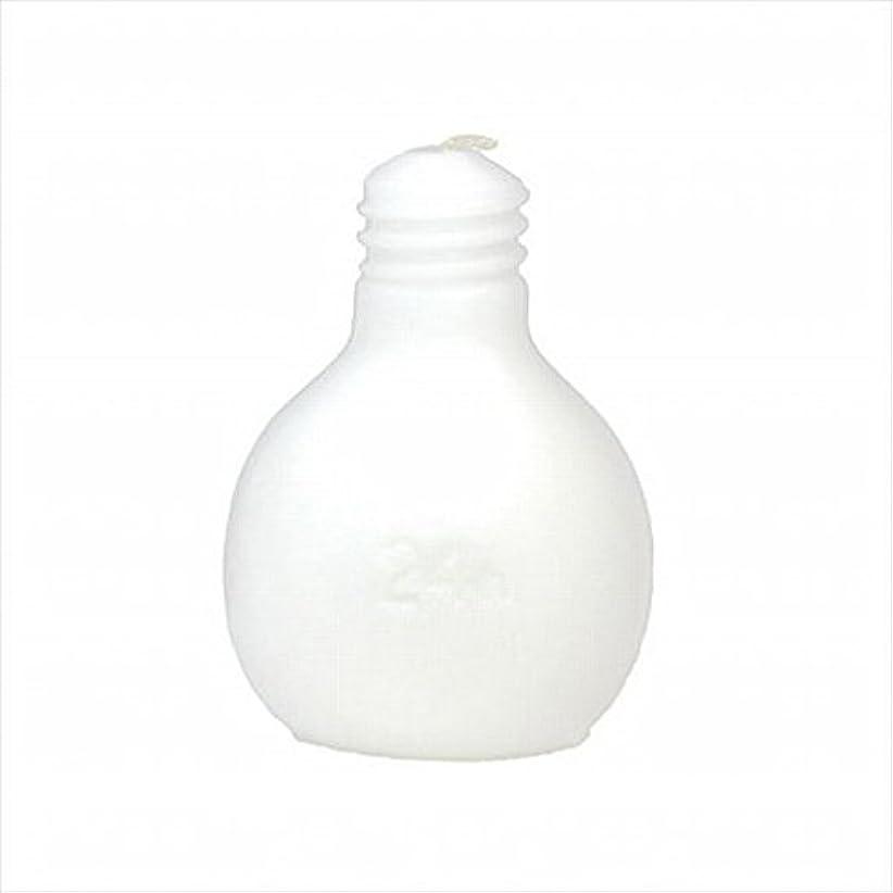 面白い粘土乱雑なkameyama candle(カメヤマキャンドル) 節電球キャンドル 「 ホワイト 」 キャンドル 75x75x98mm (A4220000W)