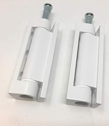 2 x Aufschraubband Scharnier Fenster Tür Möbelscharnier Einbohrband 14 x 80