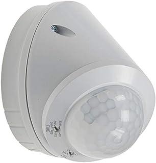 Blanc Luceco LGIP65WTW-01 D/étecteur infrarouge jour et nuit en applique inclinable Ip65 1200 W 120mm x 80mm 240 V