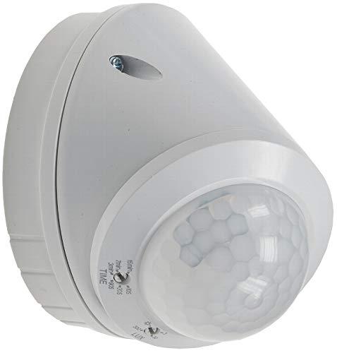 PIR-Wand-Decken-Bewegungsmelder 360° für Außen & Innen, 8m Detektion, energieeffizient, LED geeignet, 3-Draht Technik, weiß, IP 65