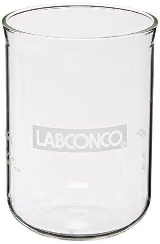 Labconco 7542800 Borosilicate Glass Fast-Freeze Flask Bottom, 600ml Volume