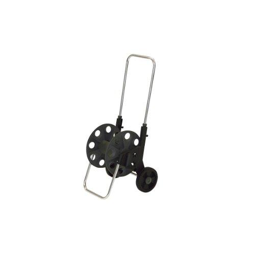 Xclou 346002 Schlauchwagen aus Kunststoff, Aufnahmefähig für Schläuche bis zu 60 Meter 1,3 cm (0,5 Zoll), Griffbügel höhenverstellbar
