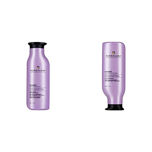Pureology Hydrate Moisturizing Shampoo & Conditioner Bundle | For Dry, Color Treated Hair | Sulfate-Free | Vegan | Updated Packaging | 9 Fl. Oz.