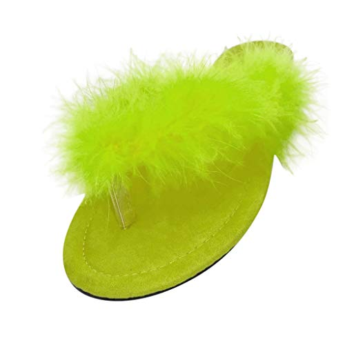 Best Review Of Plush Flip Flop for Women Girl Thong Slippers Open Toe Slip On Casual Shoes Non-Slip ...