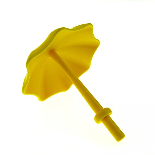 1 x Lego Duplo Schirm gelb mit Stop Ring Kinderwagen Garten- Sonnen- Regenschirm Puppenhaus Möbel Zubehör 40554