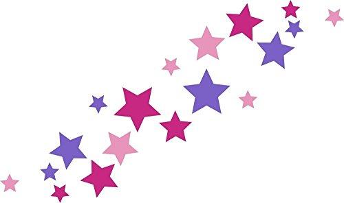 30 Stück Türaufkleber selbstklebende Sterne Autoaufkleber, Mix-Set pink rosa für Mädchen, Fensterdekoration Fensterbild/Fensteraufkleber, Wandtattoo Deko Sticker