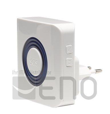 Denver ASA 30 ASA-30 Indoor Alarmsirene mit Stroboskoplicht Alarmanlage HSA120, 4.2 V, Schwarz, Weiß