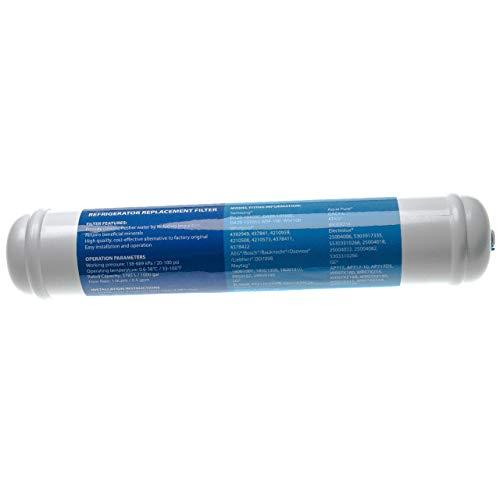 vhbw Filtro de agua, cartucho de filtro compatible con Balay 3FA7786A/01, 3FA7786A/02, 3FA7786A/03, 3FA7786A/04 frigoríficos Side-by-Side