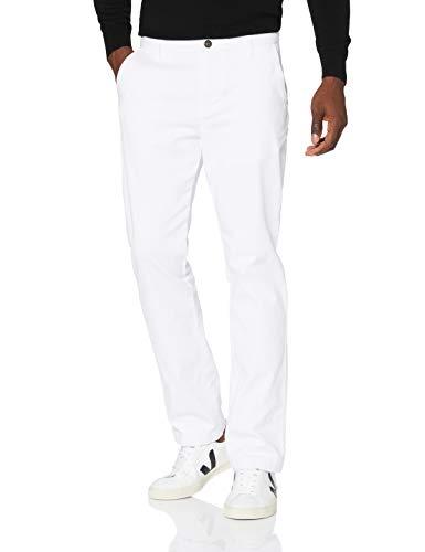Marque Amazon - MERAKI Pantalon Chino Slim Fit Homme, Blanc (Blanc), 40W / 32L, Label: 40W / 32L