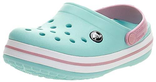 crocs Unisex-Kinder Crocband K Clogs, Blau (Ice Blue/white), 30/31 EU