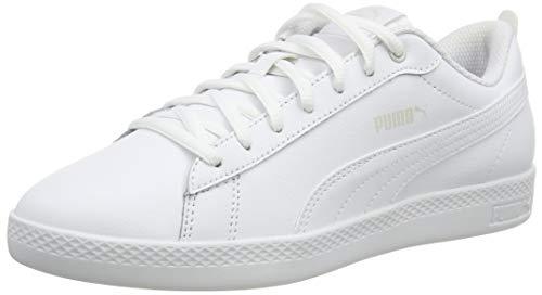 PUMA Smash Wns v2 L, Scarpe da Ginnastica Basse Donna, Bianco White White, 40 EU