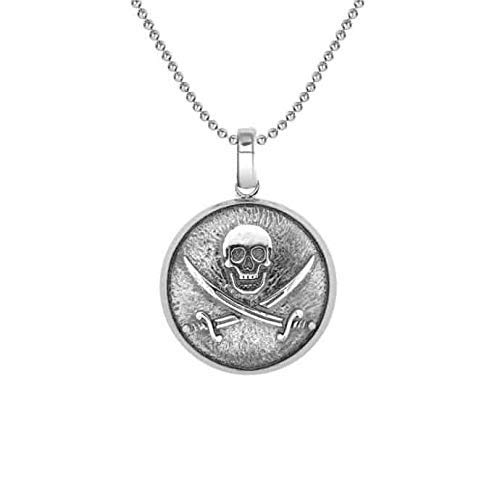 Colgante de plata con pirata Jolly Roger