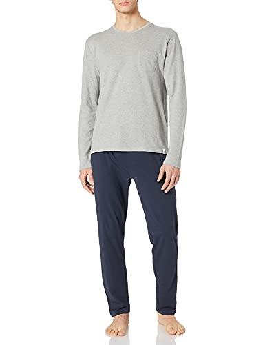 Springfield Pijama Punto Ligero Juego, Azul Oscuro, S para Hombre